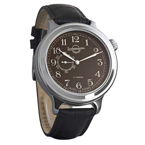 Vostok Retro Kirovskie K-43 WWII - Reloj de pulsera para hombre, estilo II Guerra Mundial, cuerda automática, correa de piel