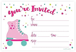 Best Roller Skating Party Invitations Kids Will Love