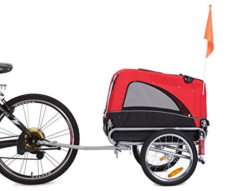 *Best Sales*Leonpets Haustier transportwagen Fahrradanhänger (Rot) 10308S