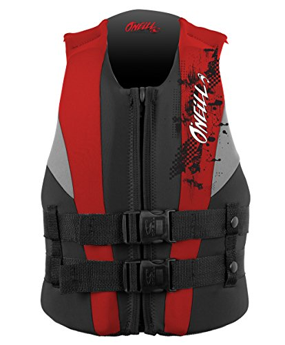 O'Neill Youth Reactor USCG Life Vest, Coal/Red/Flint, 50-90...