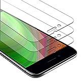 Cadorabo 3X Película Protectora para Apple iPhone 6 Plus/iPhone 6S Plus en Transparencia ELEVADA - Paquete de 3 Vidrio Templado (Tempered) Cristal Antibalas Compatible 3D con Dureza 9H