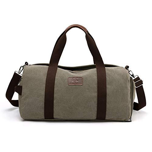 Sport och fritid mode väska stor väska 2020 nya manliga och kvinnliga modeller med stor kapacitet bärbar fitness kit kassar TOM-EU (Color : Army green, Size : 47X23X22CM)