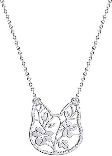 WSBDZYR Co.,ltd Collar de Moda para Mujer, Collar con Colgante de Gato Encantador para Mujer, Lindo Amor, Animal, León, pájaro Fénix, bebé, niñas, Regalo de cumpleaños, Collares