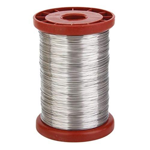 DOGZI Equipo apícola - Cable de Acero Inoxidable para Apicultura Colmena Colmena Herramienta 1 Rollo 0.5mm 500g