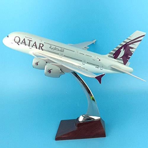 WEIYIing 1: 200 Aerei Airbus A380 in Scala Modello 37CM Aereo in Lega Aereo W Base da Collezione Display Regalo in plastica