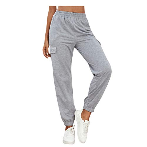 Weant Jogginghose Damen High Waist Locker mit Taschen Lange Sporthose Loose Fit Elastischer Bund Freizeithosen Traininghose Fitness Sport Leggings Laufhose Yoga Hose