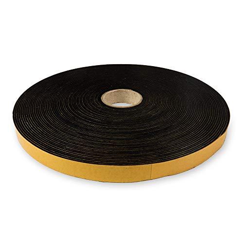 The Felt Store - selbstklebendes Filzband aus schwarzem Filz, 15 mm breit, 1,5 mm dick, 20 m lang