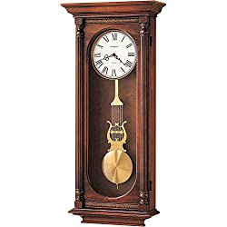 Howard Miller Helmsley Wall Clock 620-192 – Windsor Casual, Brass Pendulum with Quartz Dual-Chime Movement