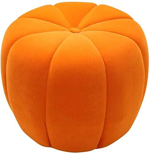 JSMY Reposapiés Sala de Estar Dormitorio Calabaza Reposapiés Lindo,Naranja,45 * 45 * 40 CM