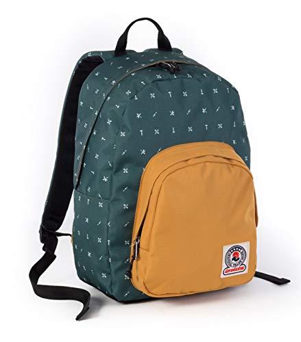 ZAINO INVICTA - OLLIE PACK II - Verde Giallo fantasia - tasca porta pc padded - scuola e tempo libero americano 24 LT