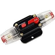 Latinaric 12 V–24 V DC, Auto Audio-Inline-Leistungsschalter mit manueller Rückstellung, Wechselrichter-Sicherungsschalter, 20 A/30 A/40 A/50 A/60 A/80 A/100 A/150 A
