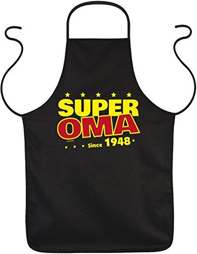 Mega-shirt geschenk voor de 71. verjaardag cadeau voor oma grootmoeder omi schort Super oma since 1948 voor 71 verjaardag keukenschort 71 jaar