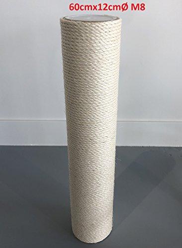 Ersatzstamm (1 Stuck) für Qualitäts Kratzbäume Kratzbaum 12cmØ und 60 cm Länge m8 Gewinde