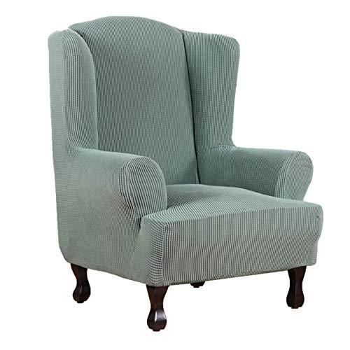 Atack-B Jacquard Sesselbezug, Sessel Überwürfe Ohrensessel Überzug Bezug Sesselhusse Elastisch Stretch Husse Für Ohrensessel Ohrensessel Bezug (Grün)