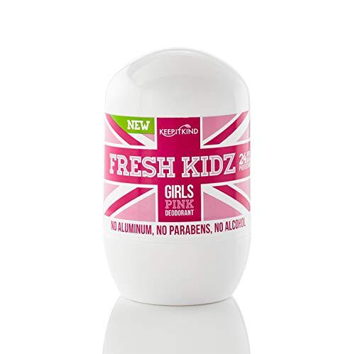 "Keep it Kind Fresh Kidz Natural Roll On Deodorant 24 Hour Protection - Girls ""Pink"" 1.86 fl.oz"