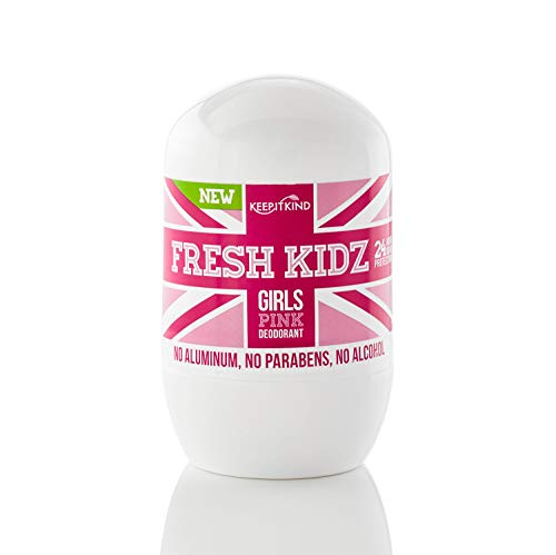 Keep it Kind Fresh Kidz Natural Roll On Deodorant 24 Hour Protection - Girls 'Pink' 1.86 fl.oz