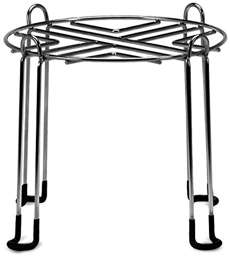 IMPRESA Water Filter Stand 10' Tall by 9' Wide Compatible with Berkey, Countertop Steel Stand for Most Medium Gravity Fed Water Coolers - Quality Stainless Steel - Fills Glasses, Pitchers, Water