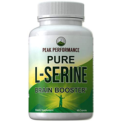 L-Serine Capsules 500mg by Peak Performance. Best Brain and Nootropic Amino Acids for Production of L-Cystine, L-Tryptophan and Serotonin. USA Grade L Serine Pills. Non-GMO Supplement (60 Servings)