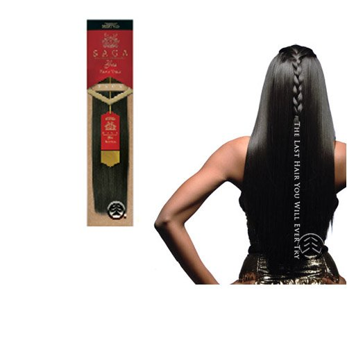 Milky Way Saga Gold Remy Human hair 10', 1 Jet Black Big Sale!