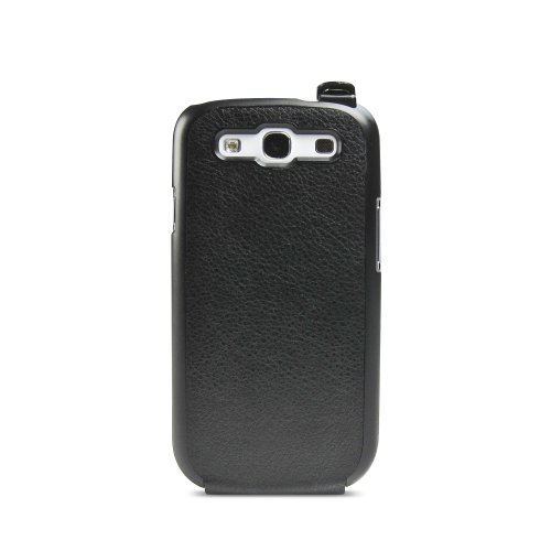 iLuv iSS251BLK ENVELOP Premium Leather Flip Case for GALAXY S III - 1 Pack - Retail Packaging - Black