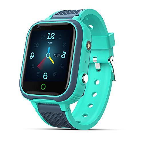 9Tong Cámara Reloj Inteligente para Niños Llamada ImpermeableRelojInteligente Niños SOS Teléfono GPS Smartwatch Niño 4G Táctil Pantalla Chat Voz Despertador Regalo