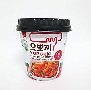 Rice cake, 140g cup, Halal Jjajang Topokki, stir-fried rice cake with original flavor,YOPOKKI