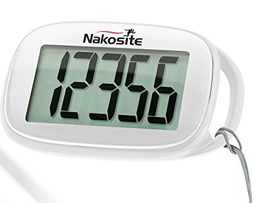 Nakosite Bester 3D Schrittzähler Fitness Tracker Pedometer ohne App Clip oder Handy mit Gürt für Damen Heren Kinder