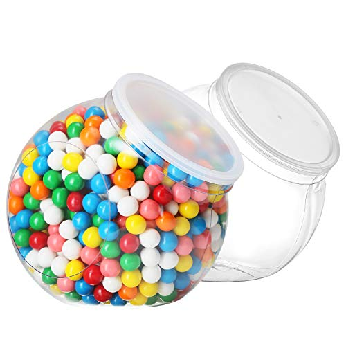 96oz Candy Jars with Airtight Lids - Cookie Jars for Kitchen Counter - Apothecary Jars Laundry Soap Containers - Coffee Pod Holder with Lid - Cookie Jar 2 Pack Plastic Candy Jars for Candy Buffet
