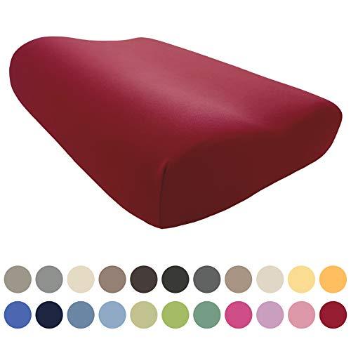 EddaLux Bezug für Tempur ORIGINAL S/M/L/XL Schlafkissen | Hochwertiger Jersey-Kissenbezug für Nackenstützkissen | 50x31 cm | 50x30 cm | 100% Baumwolle | Farbe: Karmin