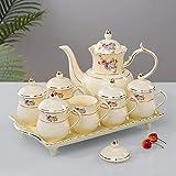 Kungfu cerámica juego de té, juego de té portátil de viaje con la tetera, tazas de té, bandeja de té, adecuado para viajes, hogar, al aire libre y Office,B