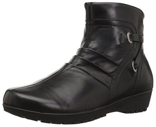 Walking Cradles Women's Zuri Ankle Boot, Black Nappa Leather, 9.5 M US