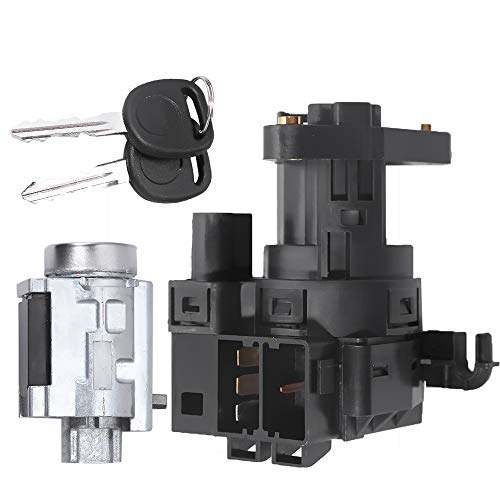 Switch Ignition Lock Cylinder w/2 Keys Compatible with Chevy Malibu Impala Olds Alero Pontiac Grand Am Replace # 12458191, 22599340