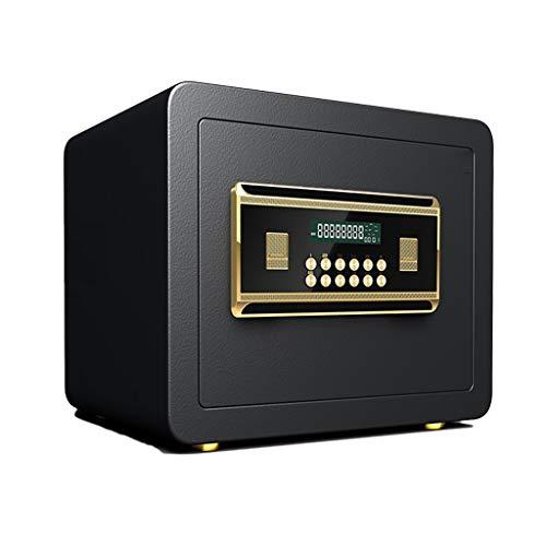 Casseforti Cassaforte digitale a muro da incasso con allarme fisso for mobili di sicurezza 35 * 30 * 30 cm Safe (Color : Black)