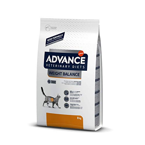 ADVANCE Veterinary Diets Weight Balance - Pienso para Gatos con Problemas de Sobrepeso - 8kg