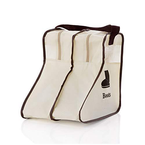 Tragbare Stiefel Aufbewahrungstasche, Schuhbeutel Organizer Praktische große Stiefel aus Vliesstoff Aufbewahrungstasche,Beige,S
