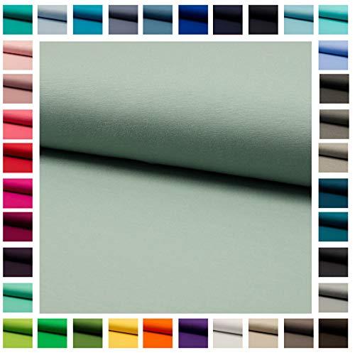 Stoff Baumwoll-Jersey JULE UNI in vielen Farben Oeko-Tex Standard 1 - Meterware ab 50cm hochwertiger Basicstoff für viele Nähprojekte (dusty khaki)