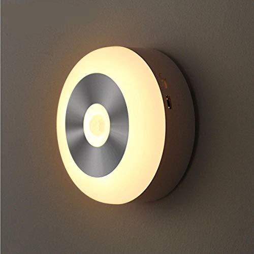 Intelligent inductienachtlampje, LED-kastlicht, USB-wandlamp, wakker 's nachts naar huis, creatief geschenk, licht-warm witte batterij op