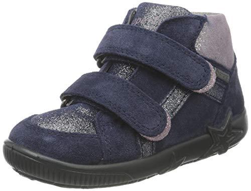 Superfit, Baby - Mädchen, Lauflernschuh, Sneaker, BLAU/ROSA 8000, 23 EU