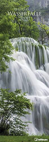 Wasserfälle - Waterfalls - Kalender 2020 - teNeues-Verlag - Vertikalkalender - Wandkalender mit eindrucksvollen Aufnahmen - 34 cm x 98 cm