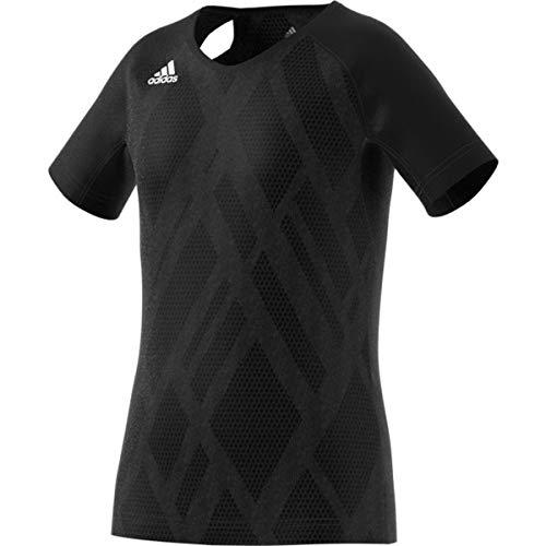 adidas Unisex Kinder Quickset Jersey, Unisex-Kinder Jungen, Trikot, Quickset Jersey, Schwarz/Schwarz/Weiß, Medium