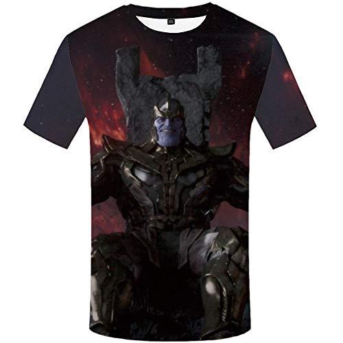 Zzfklj Venom T-Shirt Männer T-Shirts Freizeithemd Drucken Wilde T-Shirts 3D Krieg T-Shirt Gedruckt Anime Kurzarm Punk Rock-Dx5050_3XL