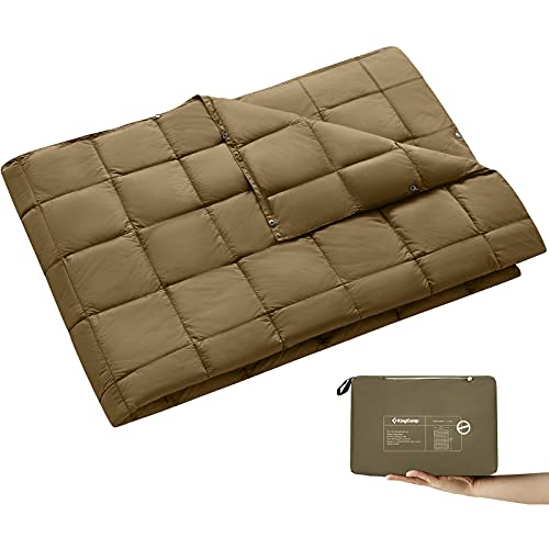 KingCamp Packable Lightweight Travel Outdoor Warm Camping Blanket, Compact Down Alternative...