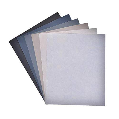 6pcs Grit 240/600/800/1000/2000/3000/5000 Sandpaper Polishing Abrasive Waterproof Paper Sheets Resin Metal Epoxy Jewelry Tools,6pcs