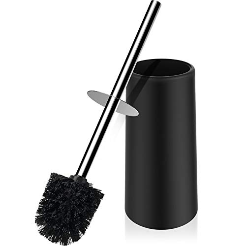 nacena Toilet Brush and Holder,Toilet Bowl Brush with 304 Stainless Steel Long Handle, Hidden Toilet Brush with Durable Scrubbing Bristles for Bathroom Deep Cleaning