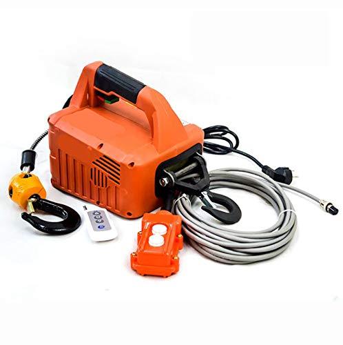 500KG Portátil Torno Eléctrico, Control De Tracción Elevación del Polipasto Eléctrico De...