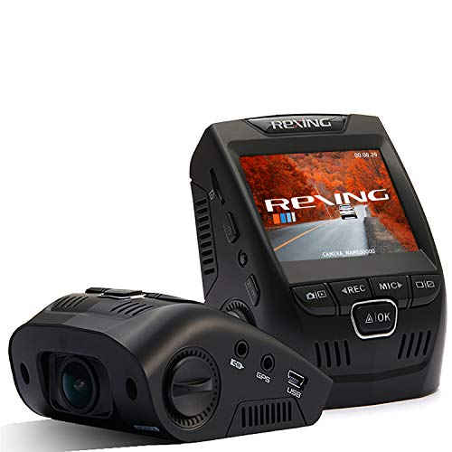 """Rexing V1 Basic Dash Cam 1080P FHD DVR Car Driving Recorder, 2.4"""" LCD Screen 170°Wide Angle, G-Sensor, WDR, Parking Monitor, Loop Recording"""