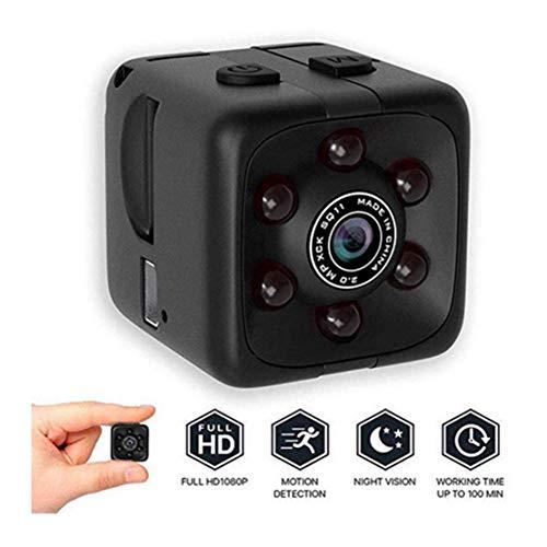 MINASAN Full HD 1080P Tragbare Kleine ¨¹berwachungskamera Mikro Nanny Cam mit Bewegungserkennung und Infrarot Nachtsicht Compact Sicherheit Kamera f¨¹r Innen und Aussen