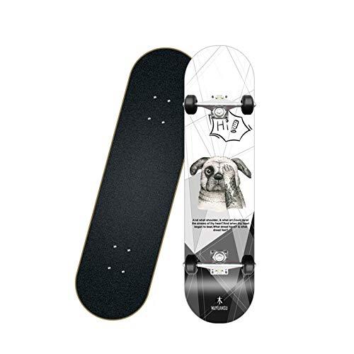 Tabla de Skate de tamaño Completo Completo 7.8'/ 31' - Patinetas de Cubierta de 7 Capas para Principiantes Patinetas básicas para Adolescentes/Adultos/niños (Color : E)
