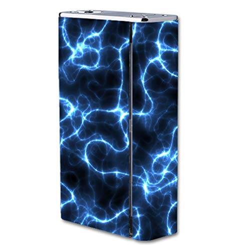 Decal Sticker Skin WRAP Blue Lightning Storm Electric for Smok X Cube II 160W TC