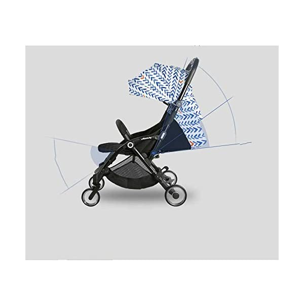 JXCC Baby Stroller, Convertible Baby Carriage, Infant Pram Stroller with Cup Holder and 5-Point Safety System -Safe And Stylish Blue JXCC 1. Can be used out of the box, no need to install, small, easy to carry, boarding, such as the size of a backpack. 2. Backboard design, with three large pieces of hard board support, moderate hardness. 3. Can sit, can move, small bed, suitable for 0-3 years old baby. 3